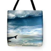 Blue Sky Wing Tote Bag