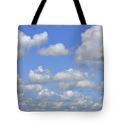 Blue Sky With Cumulus Clouds Day Usa Tote Bag