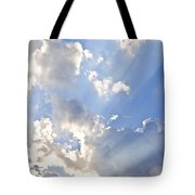 Blue Sky With Sun Rays Tote Bag by Elena Elisseeva