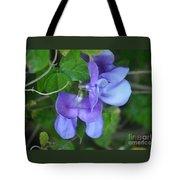 Blue Snail Vine Twins Tote Bag