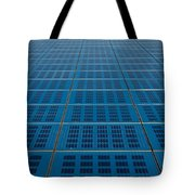 Blue Solar Panel Collector View Tote Bag