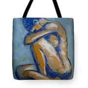 Blue Soul - Female Nude Tote Bag