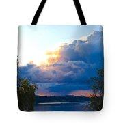 Blue Soundscape Tote Bag