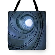 Blue Spiral Staircaise Tote Bag