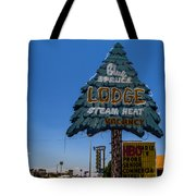 Blue Spruce Lodge Tote Bag