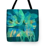 Blue Square Retro Tote Bag by Ann Powell