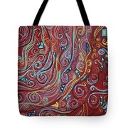 Blue Squiggles Tote Bag