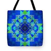Blue Sri Yantra Variation Tote Bag