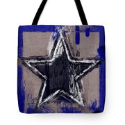 Blue Star Abstract Tote Bag