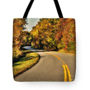 Blue Star Highway In Fall Tote Bag