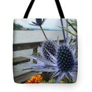 Blue Star Sea Holly Tote Bag
