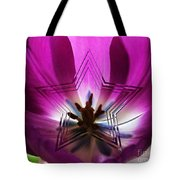 Blue Star Tulip Design 2 Tote Bag