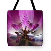 Blue Star Tulip Design Tote Bag
