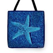 Blue Starfish - Digital Art Tote Bag