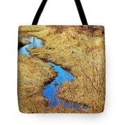 Blue Stream Tote Bag