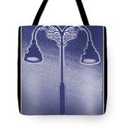 Blue Street Lights Tote Bag