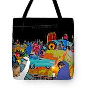 Blue Suede Shoes Posterized Tote Bag