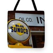 Blue Sunoco Globe Tote Bag