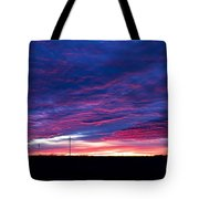 Blue Sunrise In West Texas Tote Bag