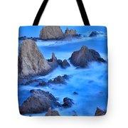 Blue Sunset At The Mermaid Reef Tote Bag