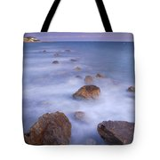 Blue Sunset At The Rocks Tote Bag