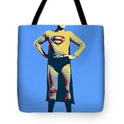 Blue Superman Tote Bag