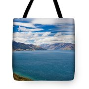 Blue Surface Of Lake Hawea In Central Otago Of New Zealand Tote Bag
