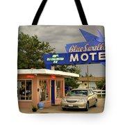 Blue Swallow Motel Tote Bag
