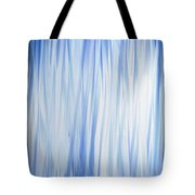 Blue Swoops Vertical Abstract Tote Bag