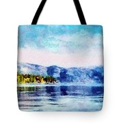 Blue Tahoe Tote Bag