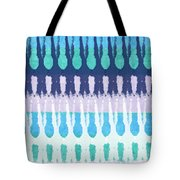 Blue Tie Dye Tote Bag by Linda Woods