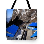 Blue Tin Roof Tote Bag