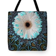 Blue Tipped Flower Tote Bag
