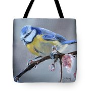 Blue Tit And Blossoms Tote Bag