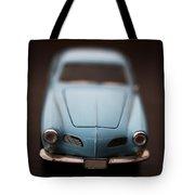 Blue Toy Car Tote Bag