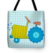 Blue Tractor Tote Bag