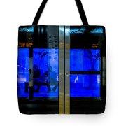 Blue Tram Windows Tote Bag