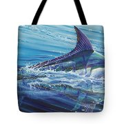 Blue Tranquility Off0051 Tote Bag by Carey Chen