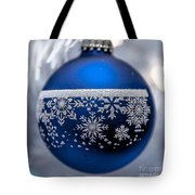 Blue Tree Ornament Tote Bag