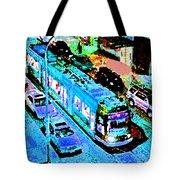 Blue Trolley Portland Tote Bag