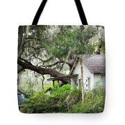 Blue Truck And Moss Tote Bag