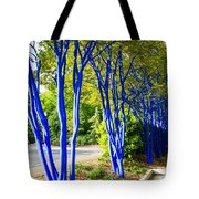 Blue Trunked Trees 2 Tote Bag