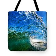 Blue Tube Tote Bag