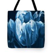 Blue Tulip Flowers Tote Bag