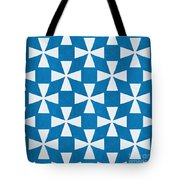 Blue Twirl Tote Bag