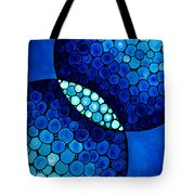 Blue Unity Tote Bag by Sharon Cummings