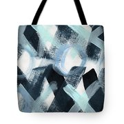 Blue Valentine- Abstract Painting Tote Bag