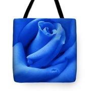 Blue Velvet Rose Flower Tote Bag