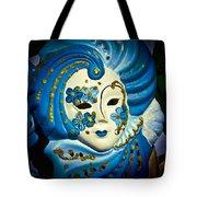 Blue Venetian Mask Tote Bag