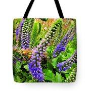 Blue Veronica Flowers   Digital Paint Tote Bag